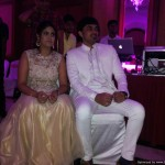 Tamilnadu Freelance MCs Thamizharasan and Nandhini Hosting Sangeet at RaviPrasad's Family event