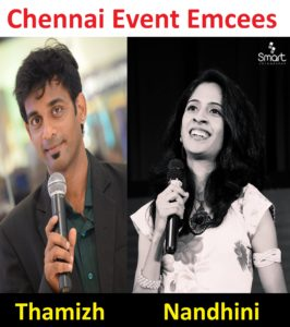 Chennai Event Emcees Thamizh and Nandhini