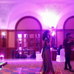 Chennai Master of Ceremonies Thamizharasan and Nandhini Hosting Sangeet at RaviPrasad's Family event
