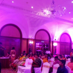 Tamilnadu Master of Ceremonies Thamizharasan and Nandhini Hosting Sangeet at RaviPrasad's Family event