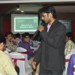 Chennai Master of Ceremonies hosting Retailers meet at Hotel Jalpaan