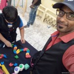 Chennai Freelance MC Thamizharasan hosting home birthday party for kids