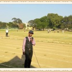 Chennai MC Thamizharasan hosting cricket match at YMCA Nandanam