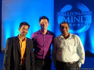 International Trainer Tim, Thamizharasan and Wealth Coach Paddy at Millionaire Mind Intensive (MMI) Chennai