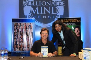 T Harv Eker the worlds best coach on millionaire mind and Dr Maharaja SivaSubramanian N Human potential and growth expert during Millionaire Mind Intensive at Chennai