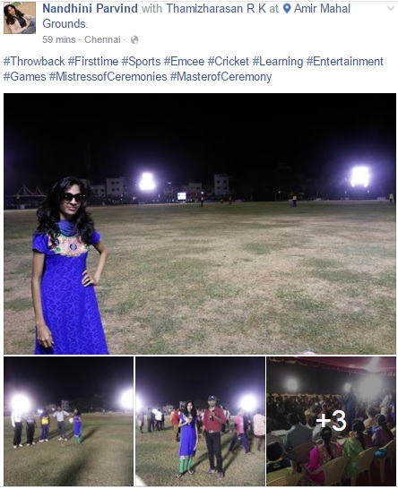 Chennai CoHosts Nandhini and Thamizh hosting Cricket Match at Amir Mahal