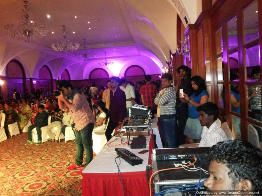 Chennai Master of Ceremonies Sangeet Emcee Thamizharasan and Nandhini with DJ