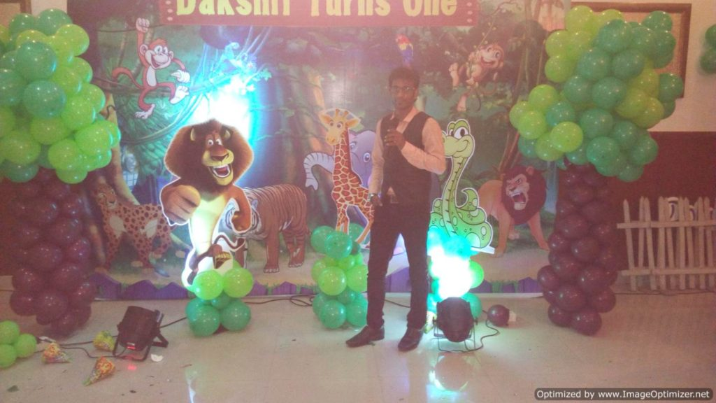 Chennai Event Emcee Thamizharasan at Birthday Party with Jungle Theme