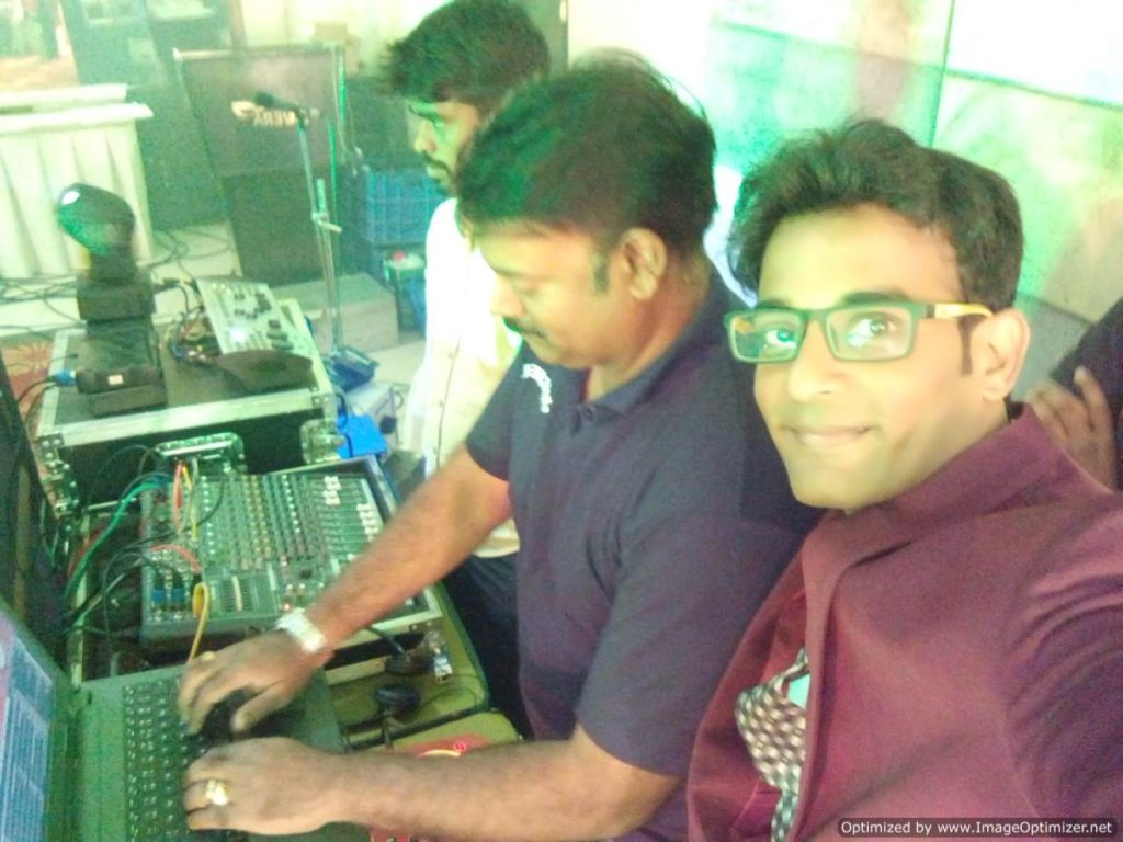 Chennai Event Emcee Thamizharasan with Birthday Party DJ Karthik Enrich Events