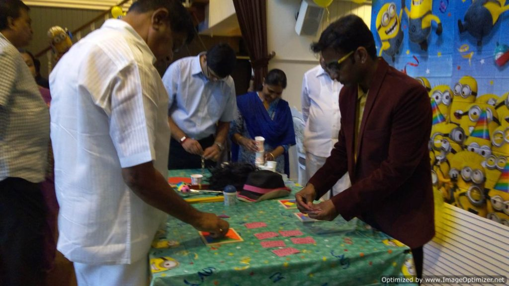 Chennai Event MC Thamizharasan conducting table games at Birthday Party