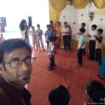 Chennai Birthday Party Emcees Thamizharasan and Nandhini at Mogappair St Antony's Church