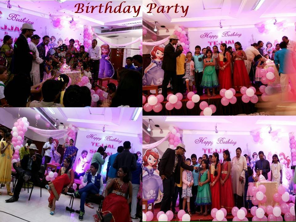 Birthday Party Hall and Decoration Chennai Event Emcee Thamizharasan