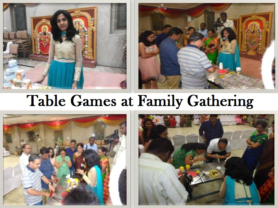 Chennai Event Emcee Nandhini conducting Table games at Family gathering and Birthday Party