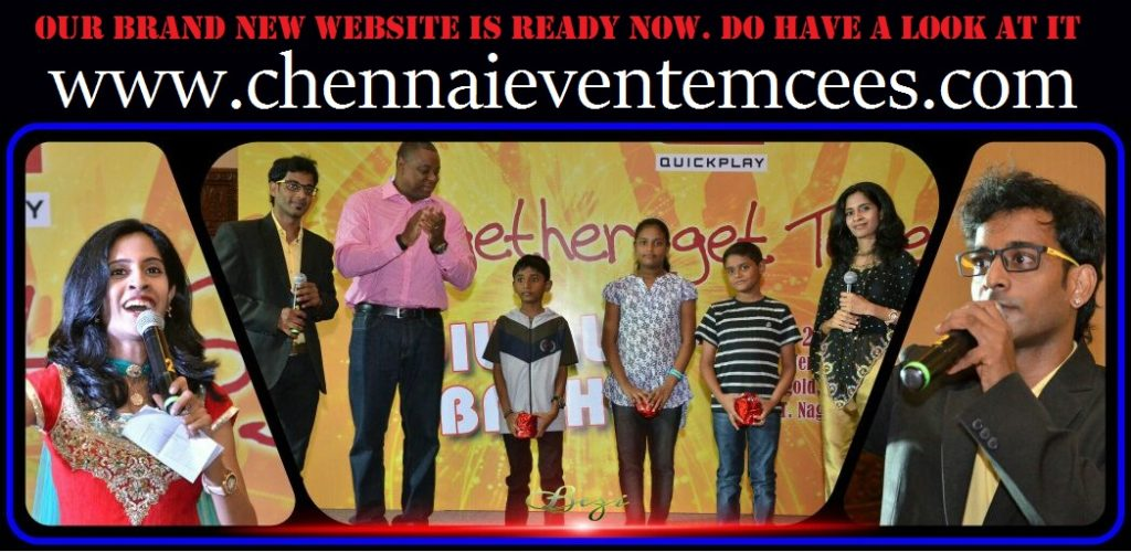 Chennai Event Emcees Thamizharasan and Nandhini Website