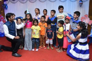 Chennai Event MCs Thamizharasan and Nandhini at anchoring Birthday Party