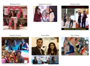 Chennai Event Emcees and Entertainers Thamizharasan and Nandhini Types of Events